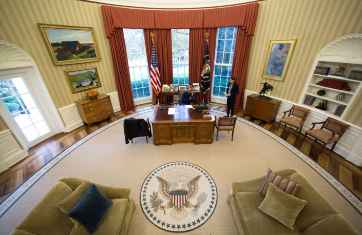 the oval office. President Barack Obama Makes Thanksgiving Day Phone Calls From The Oval Office To U.S. Troops Stationed